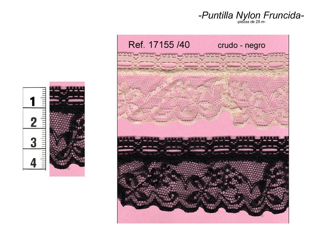 Puntilla nylon fruncida 17155/40