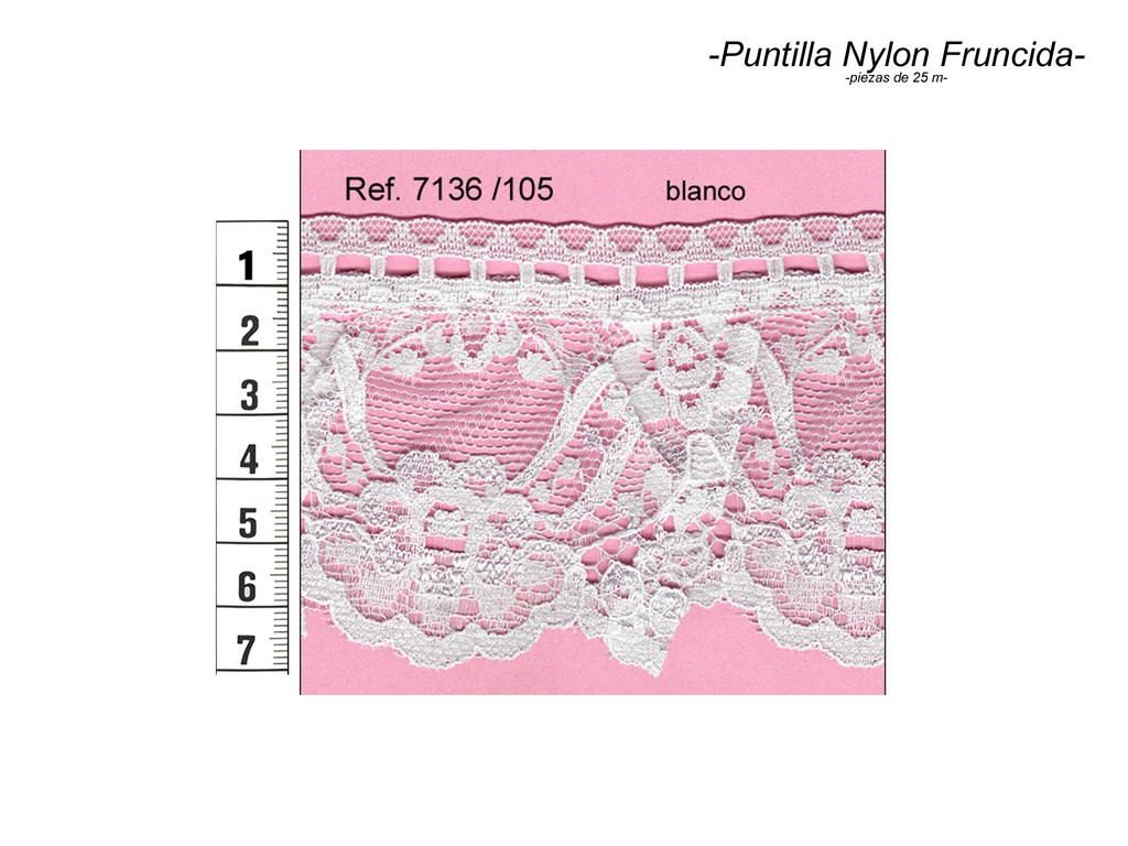 Puntilla nylon fruncida 7136/105