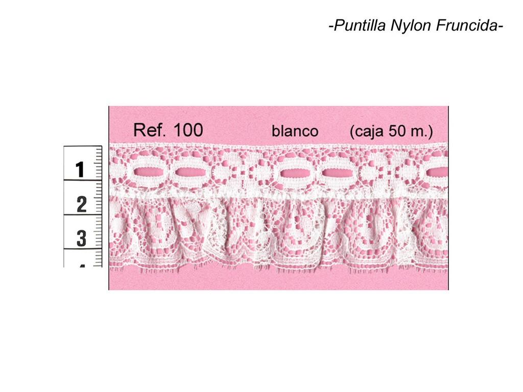 Puntilla nylon fruncida 100