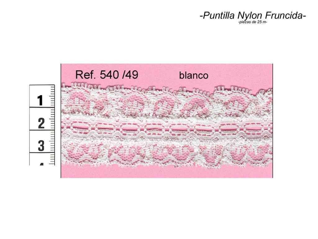 Puntilla nylon fruncida 540/49