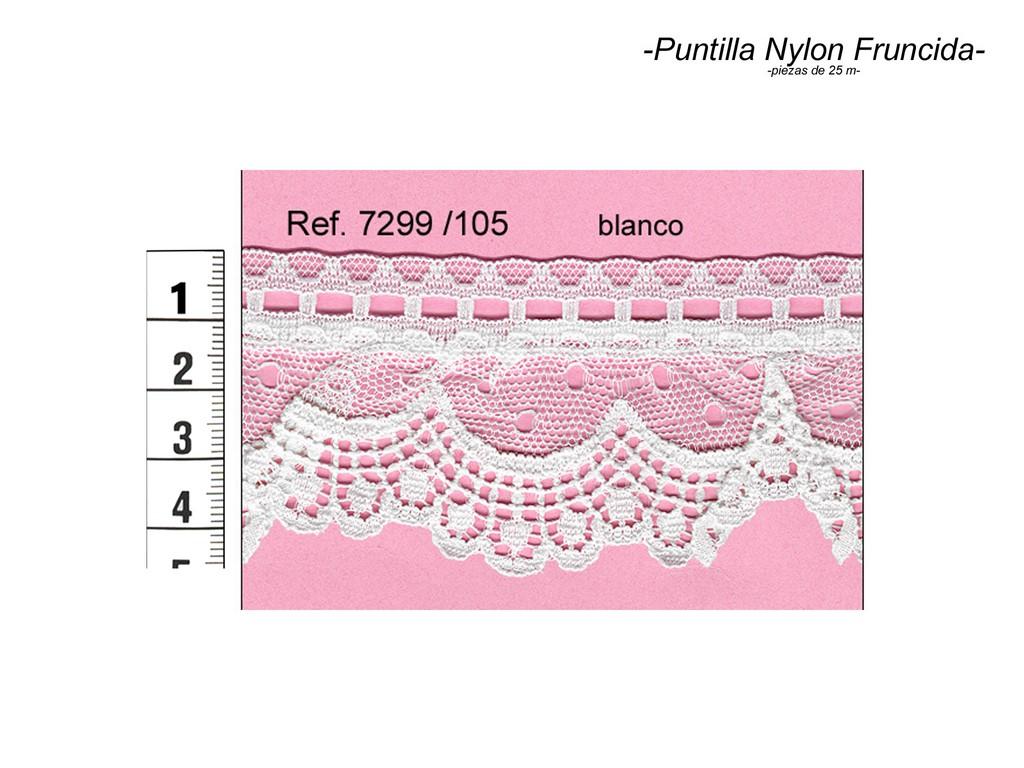 Puntilla nylon fruncida 7299/105