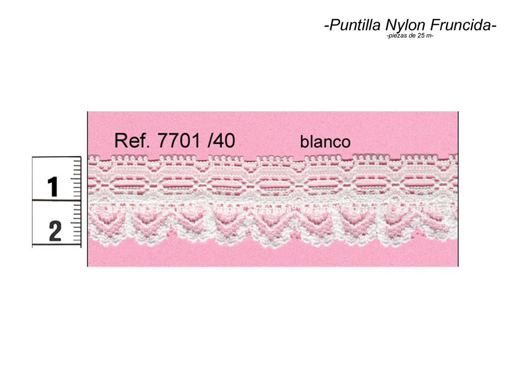 Puntilla nylon fruncida 7701/40