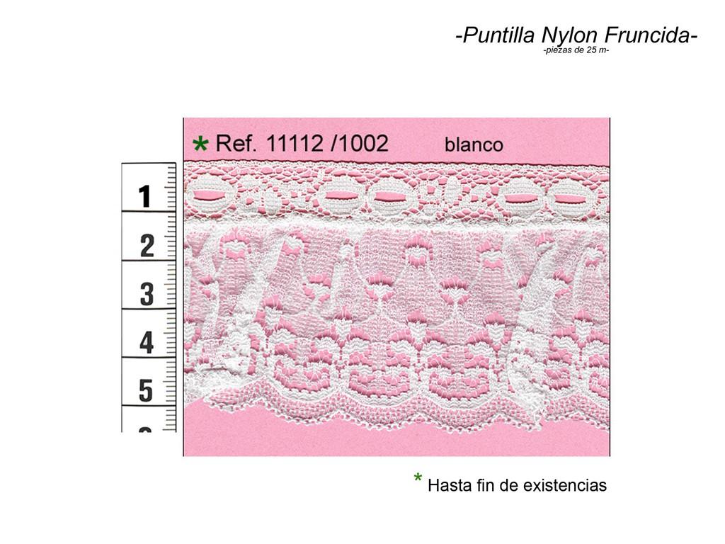 Puntilla nylon fruncida 11112/1002