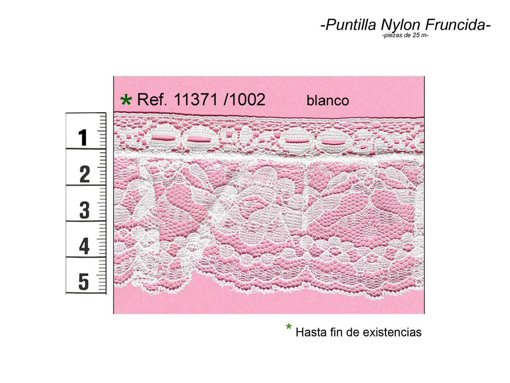 Puntilla nylon fruncida 11371/1002