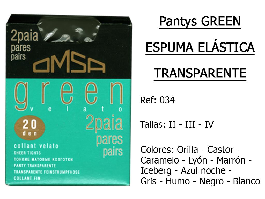 PANTYS espuma elastica transparente 034
