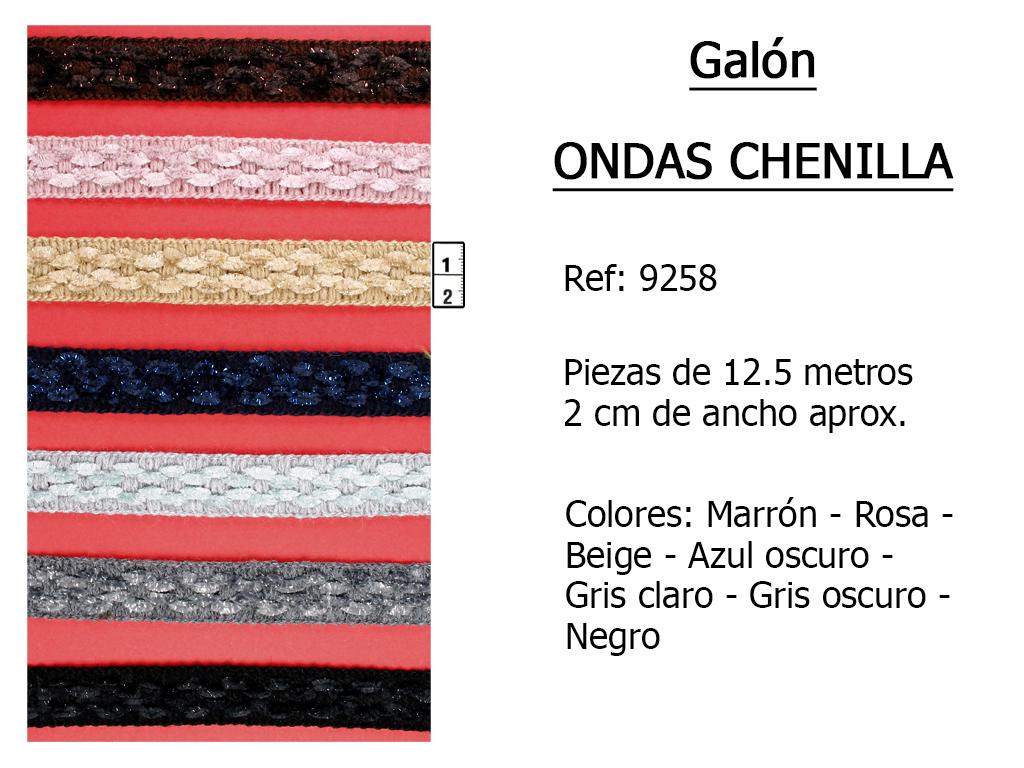 GALON ondas chenilla 9258
