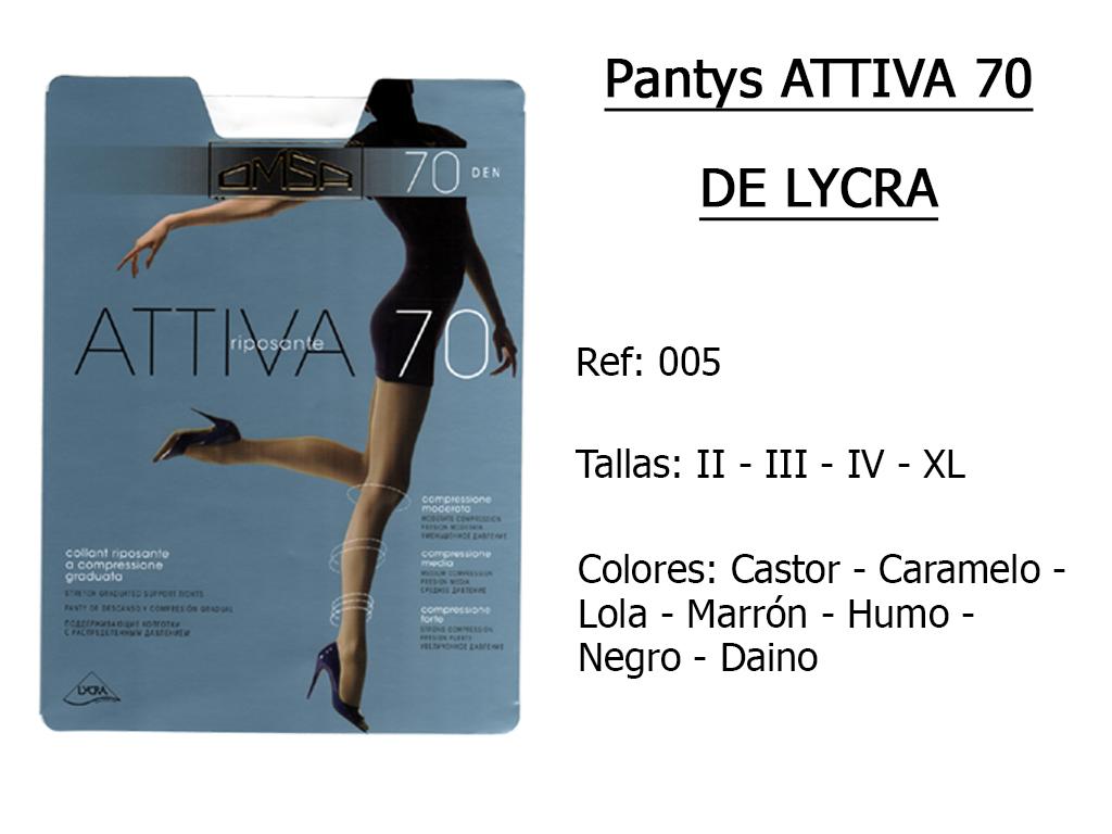 PANTYS attiva 70 de lycra 005