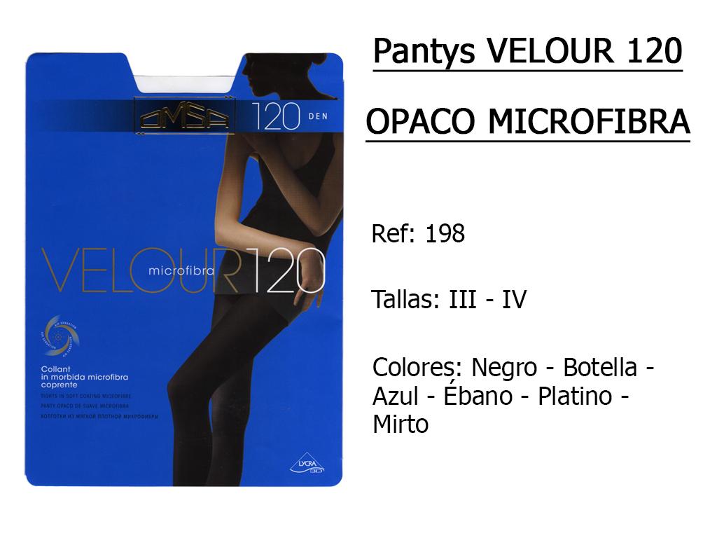 PANTYS velour 120 opaco microfibra 198