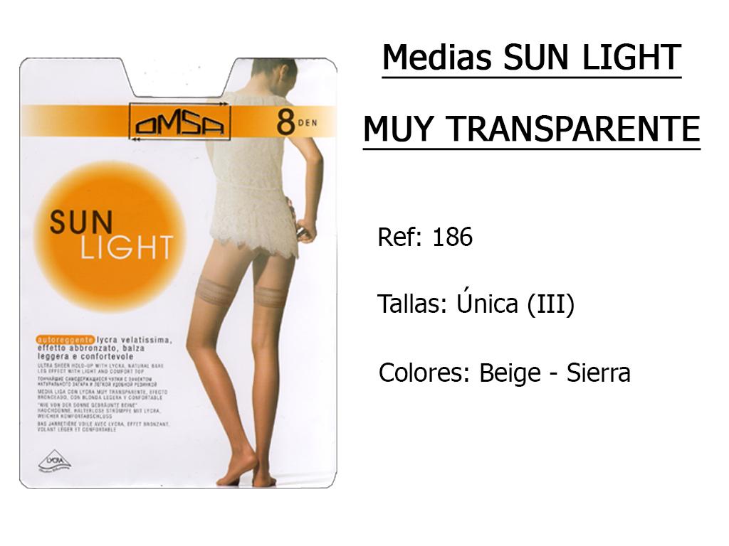 MEDIAS sun light muy transparentes 186
