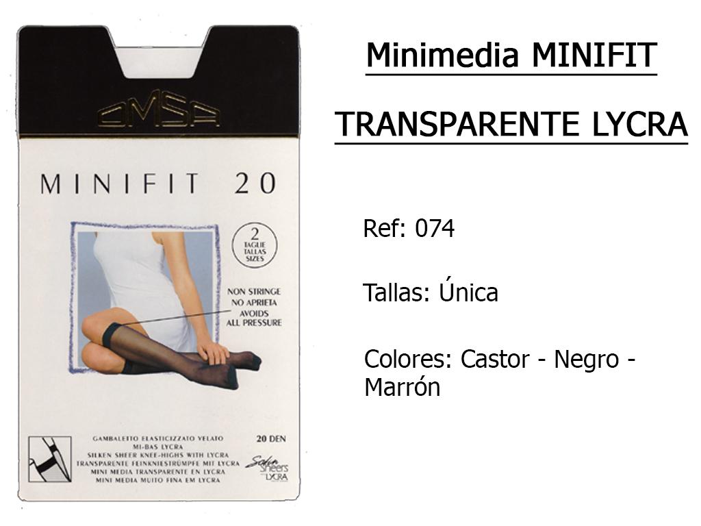 MINIMEDIAS minifit transparente lycra 074