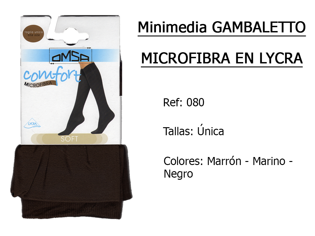 MINIMEDIAS microfibra 70 en lycra 080