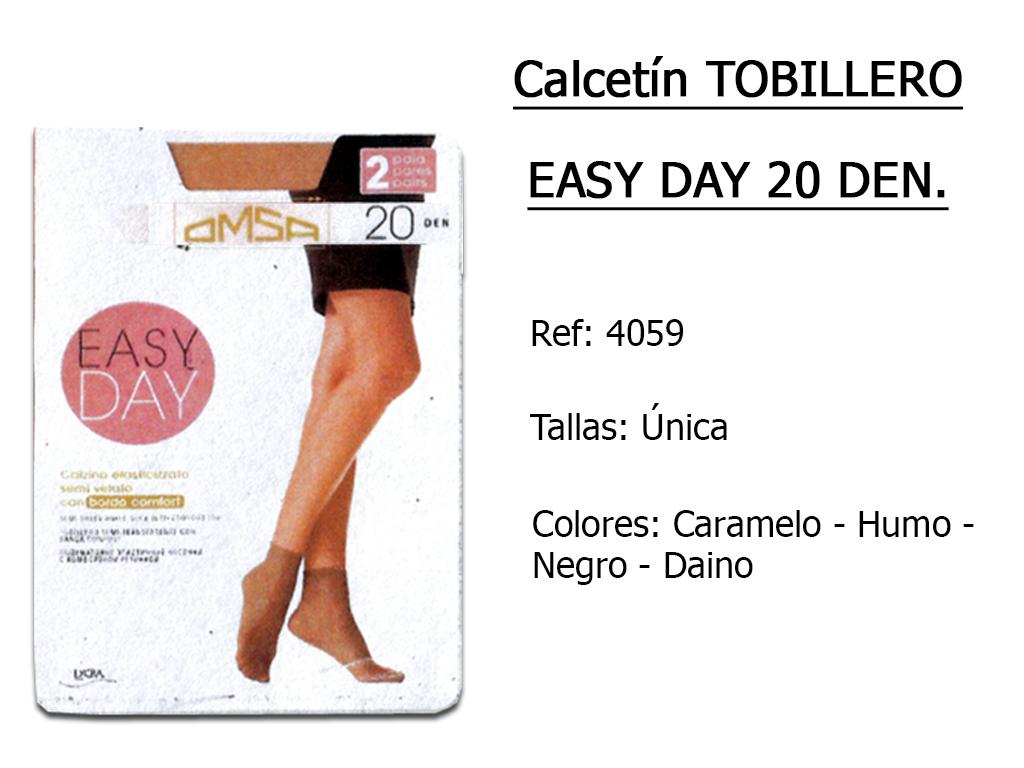 CALCETINES tobilleros easy day 20 den 4059