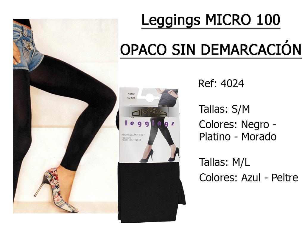 LEGGINGS micro 100 opaco sin demarcacion 4024
