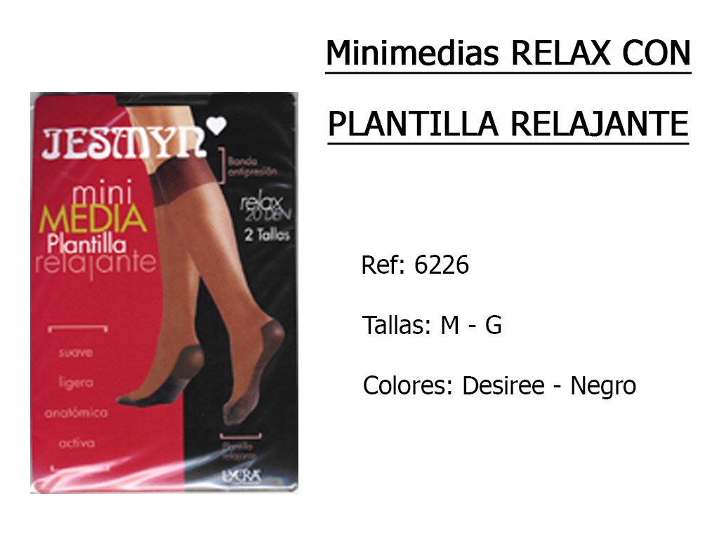 MINIMEDIAS relax con plantilla relajante 6226