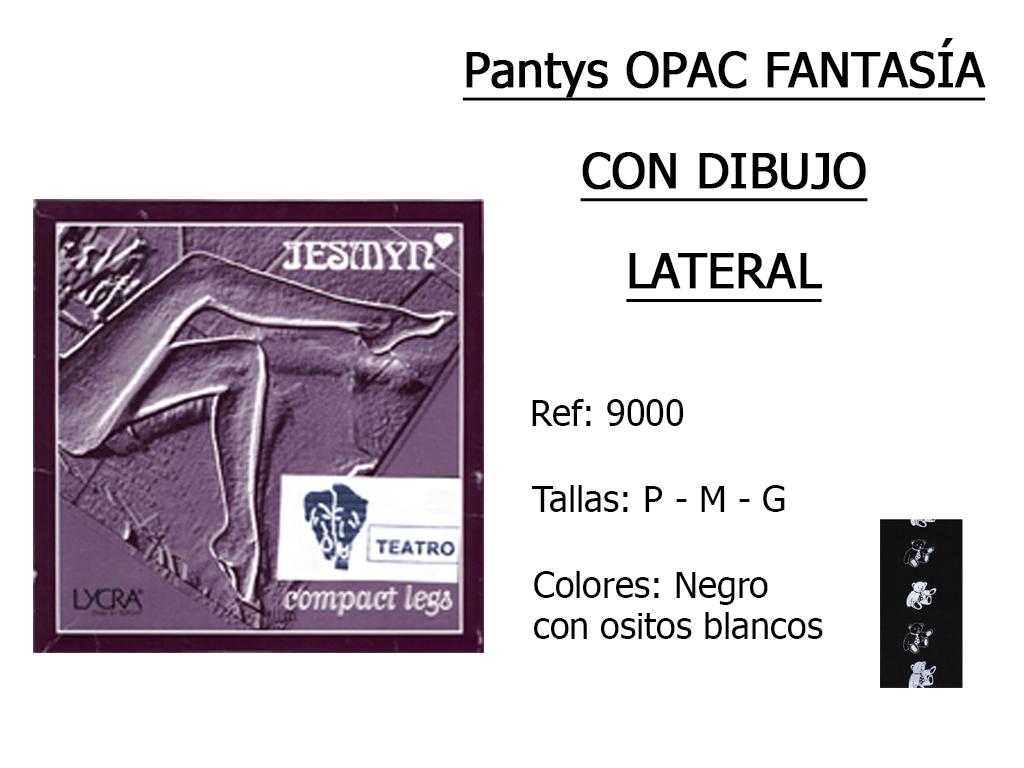 PANTYS opac fantasia con dibujo lateral 9000
