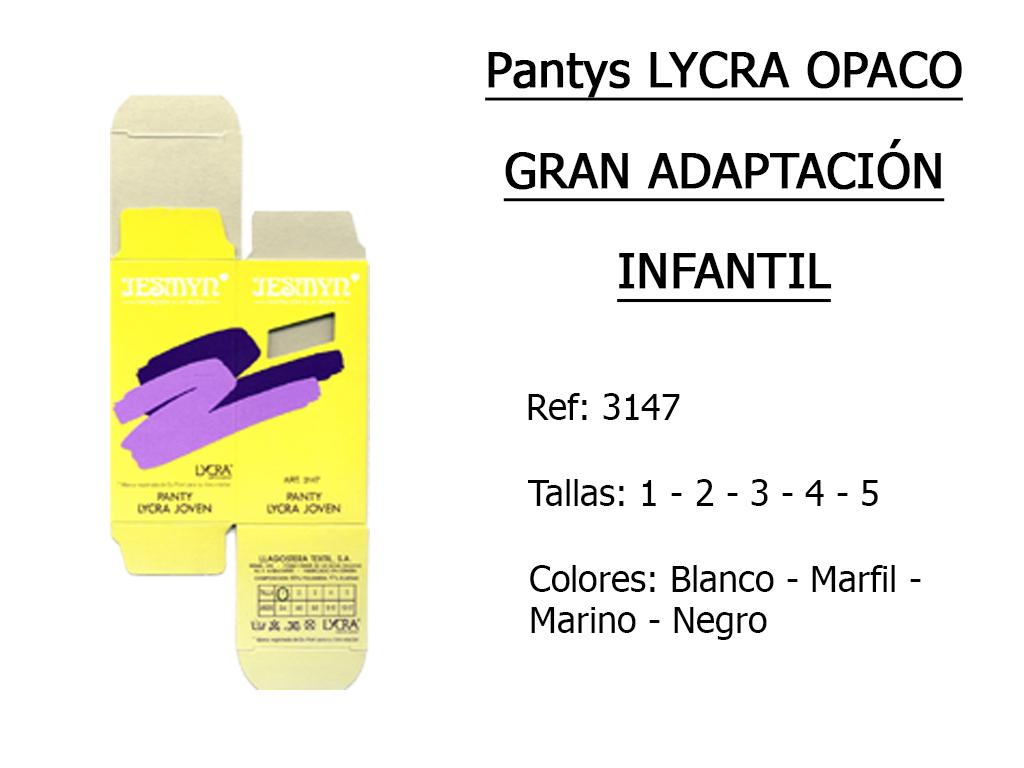 PANTYS lycra opaco gran adaptacion infantil 3147