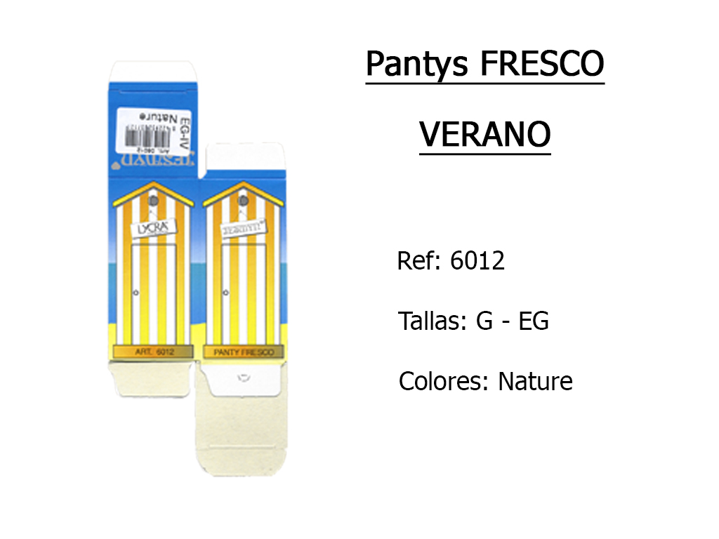 PANTYS fresco verano 6012