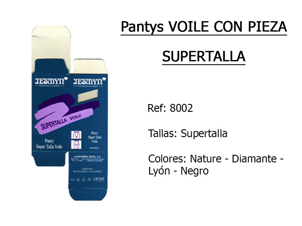 PANTYS voile con pieza supertalla 8002