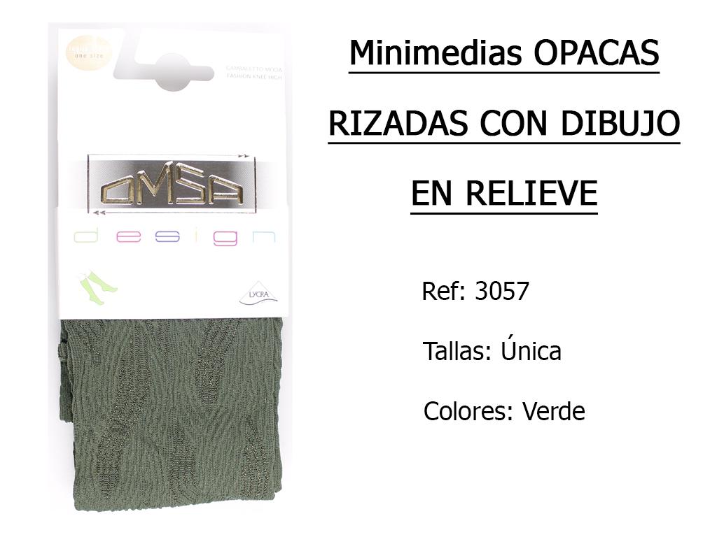 MINIMEDIAS opacas rizadas con dibujo en relieve 3057