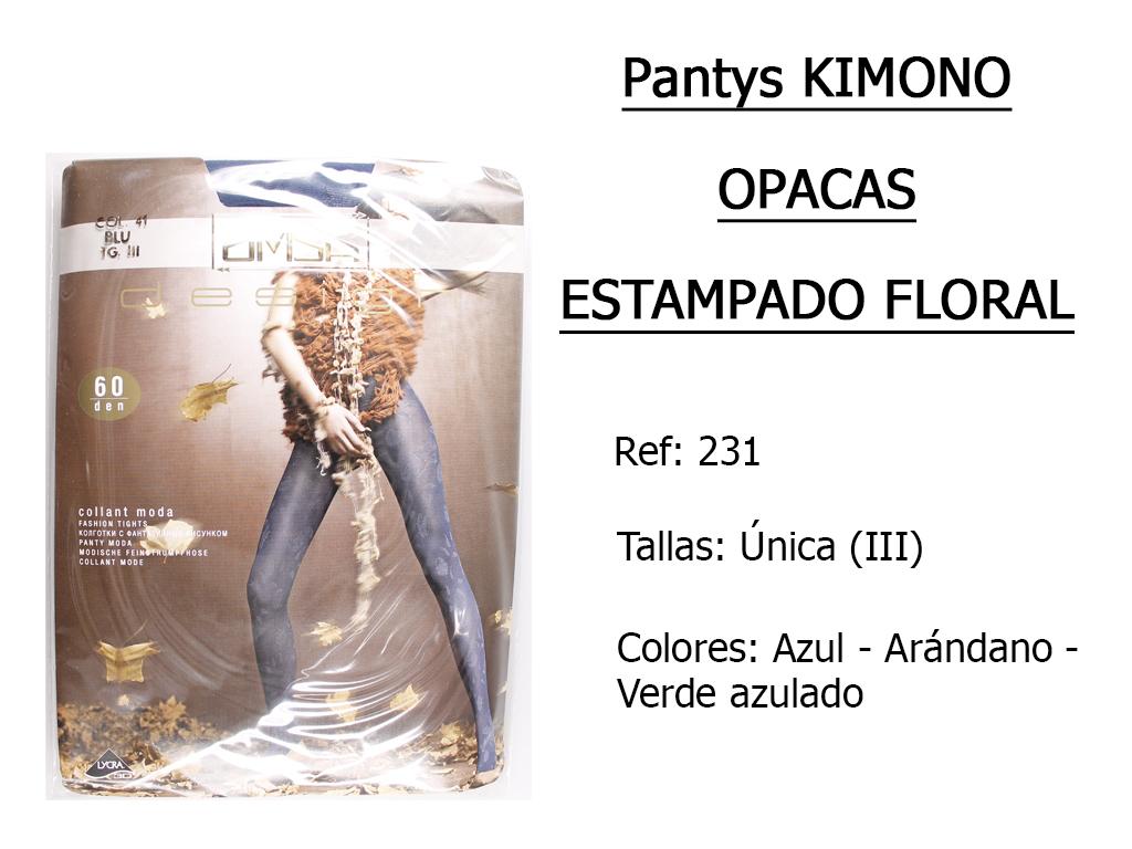 PANTYS kimono opacos estampado floral 231