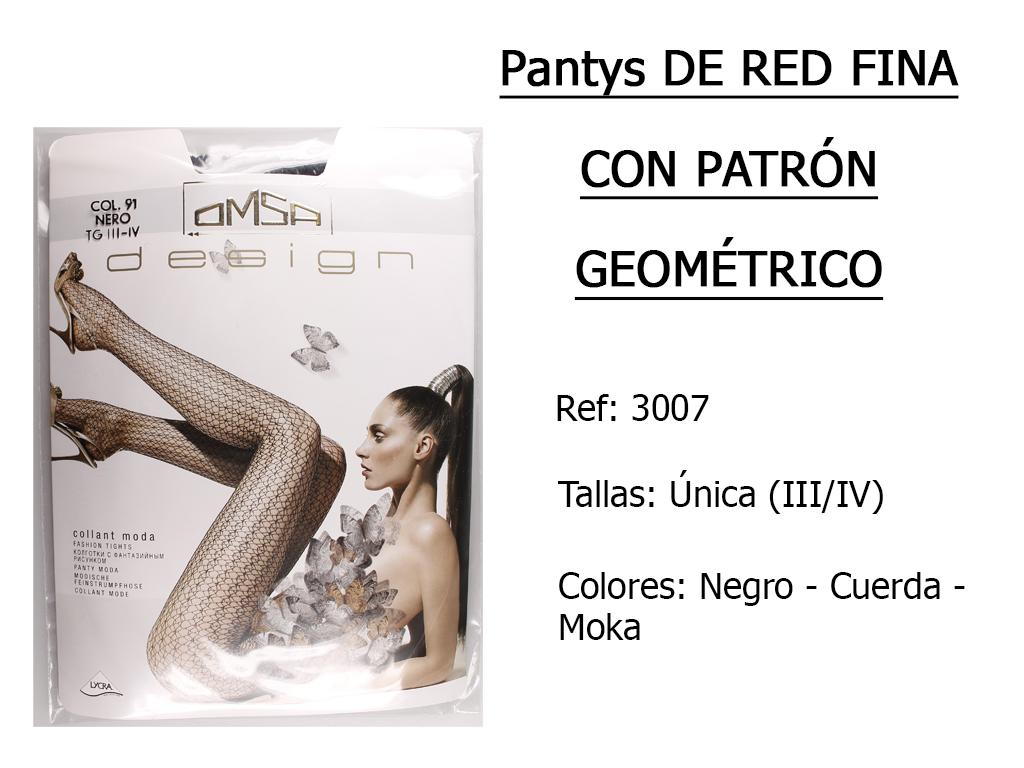 PANTYS de red fina con patron geometrico 3007