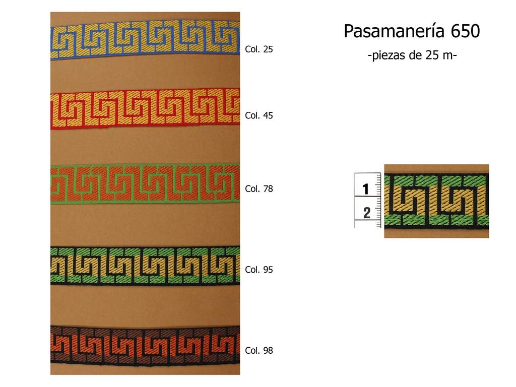 PASAMANERÍA 650
