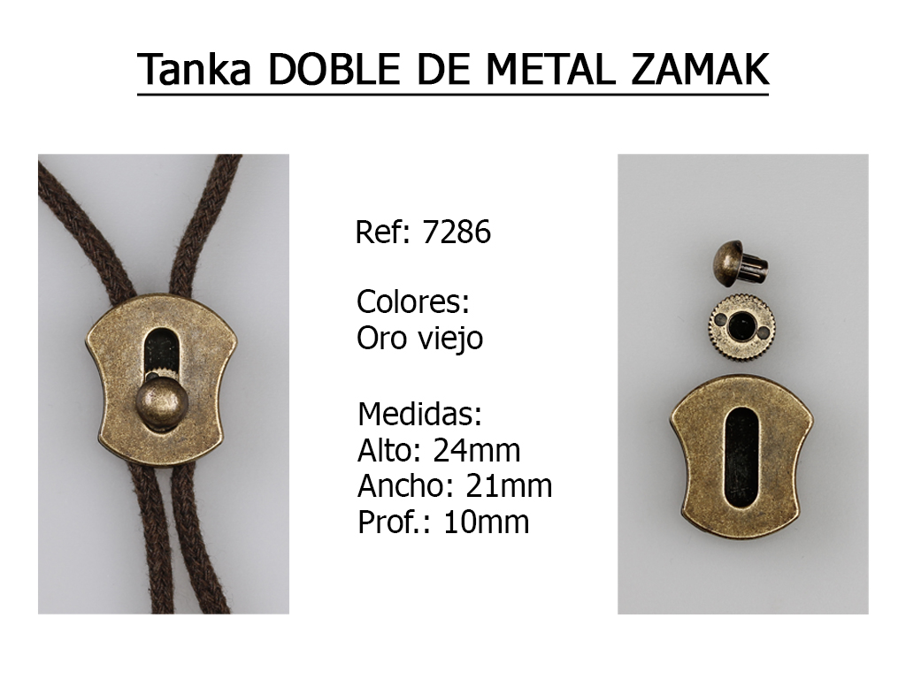 TANKA DOBLE DE METAL ZAMAK 7286