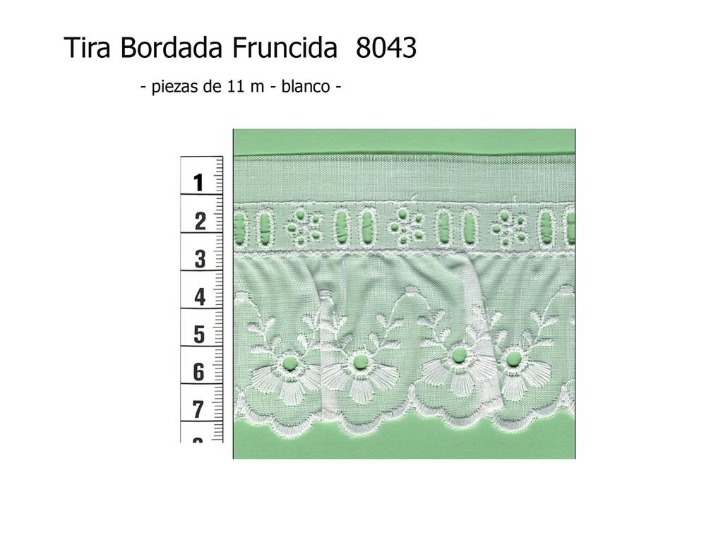Tira bordada fruncida 8043