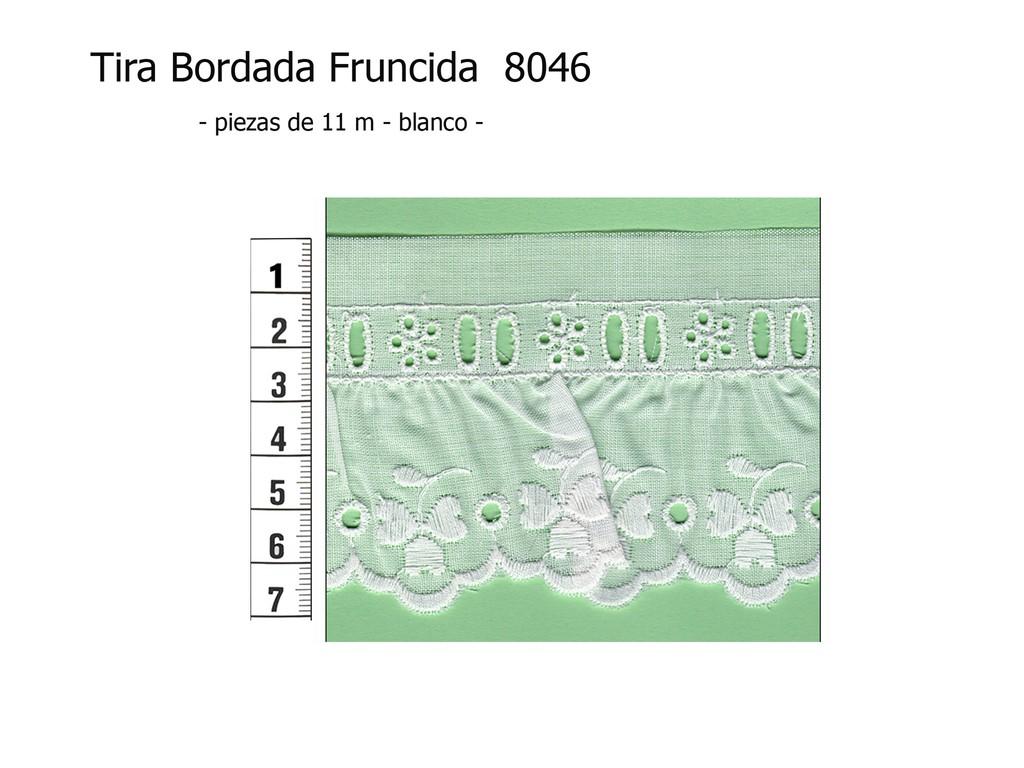 Tira bordada fruncida 8046