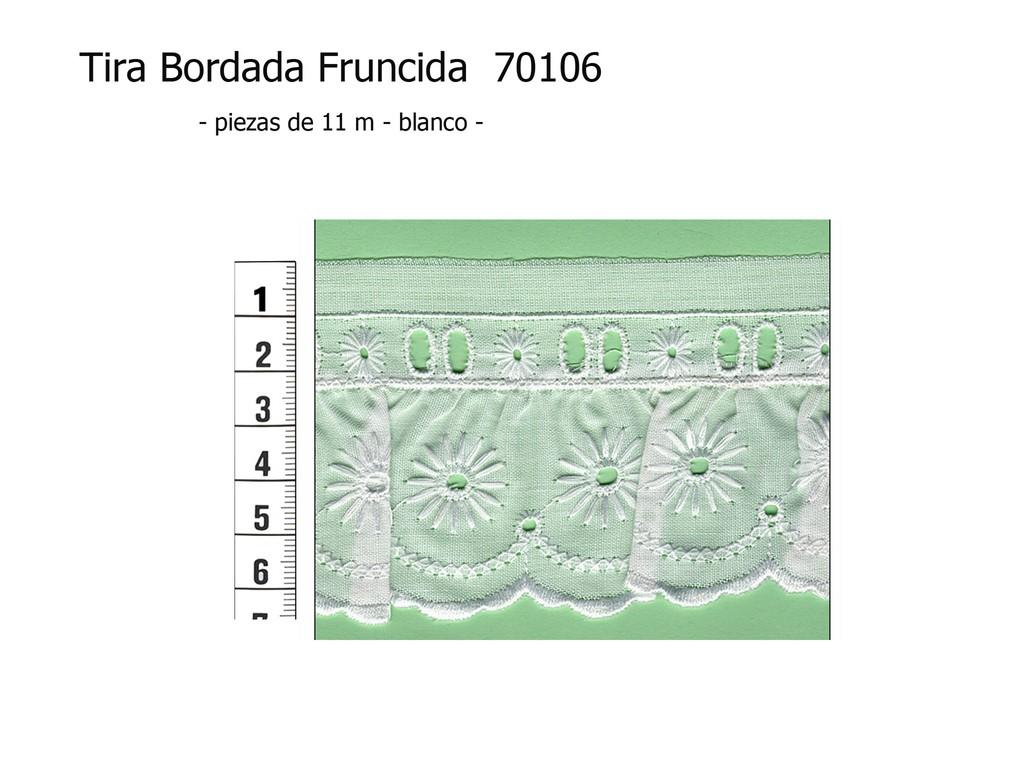 Tira bordada fruncida 70106