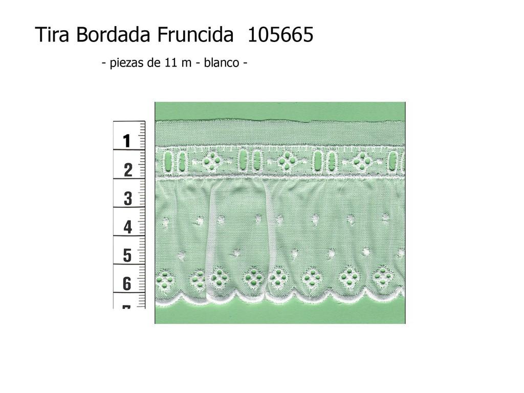 Tira bordada fruncida 105665