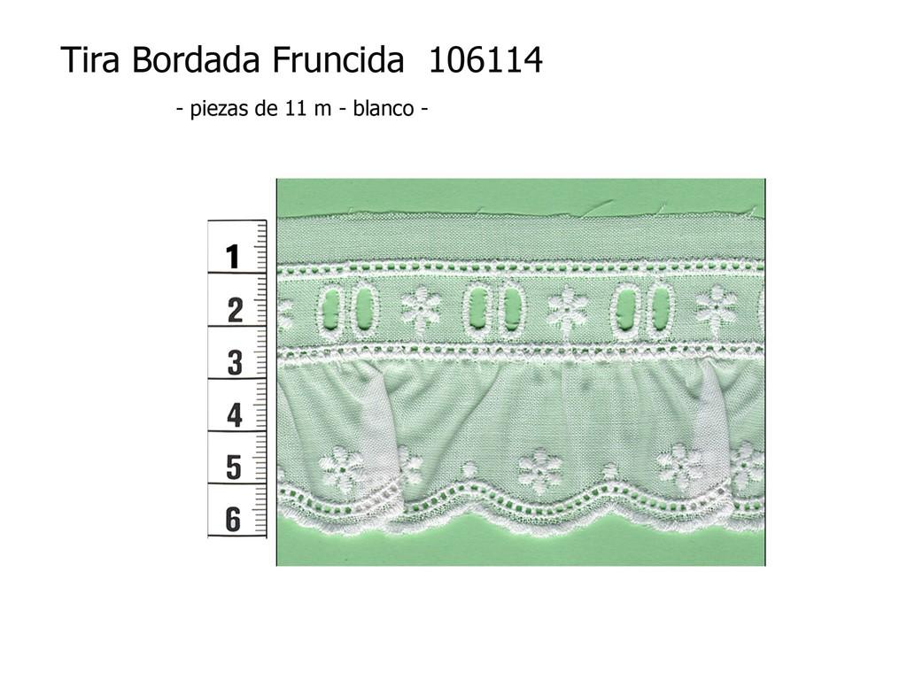 Tira bordada fruncida 106114