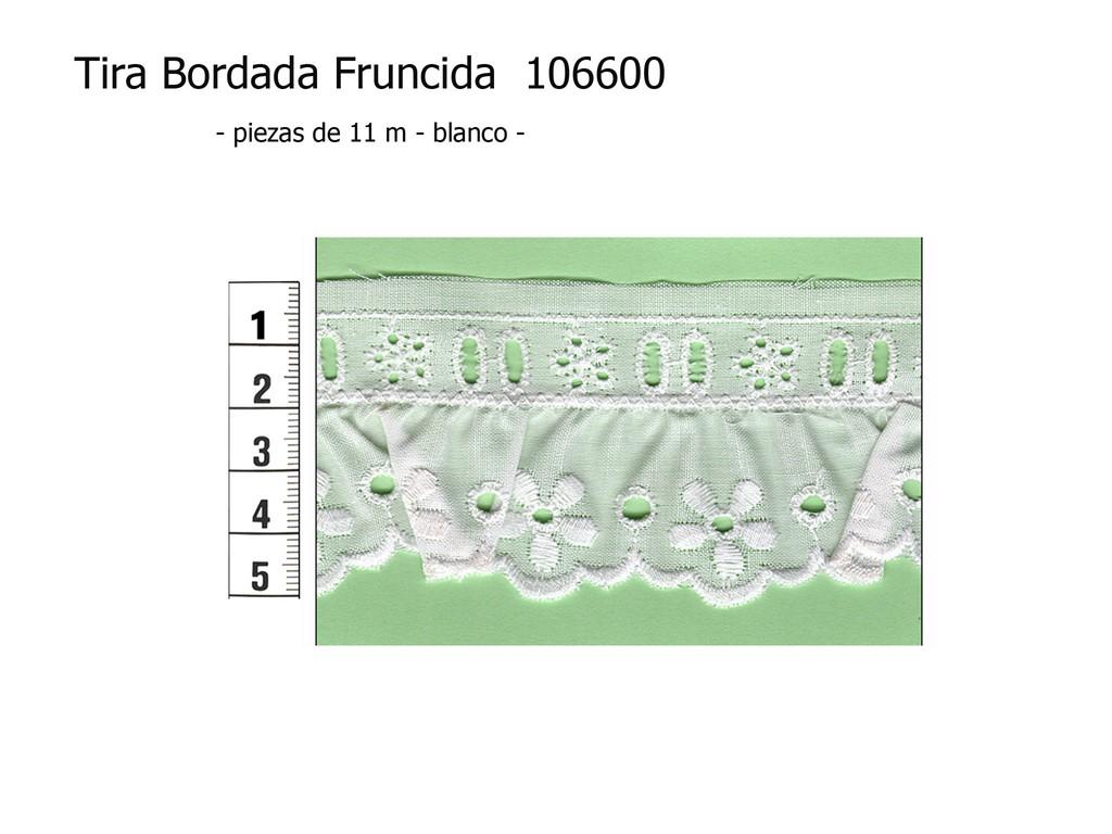 Tira bordada fruncida 106600
