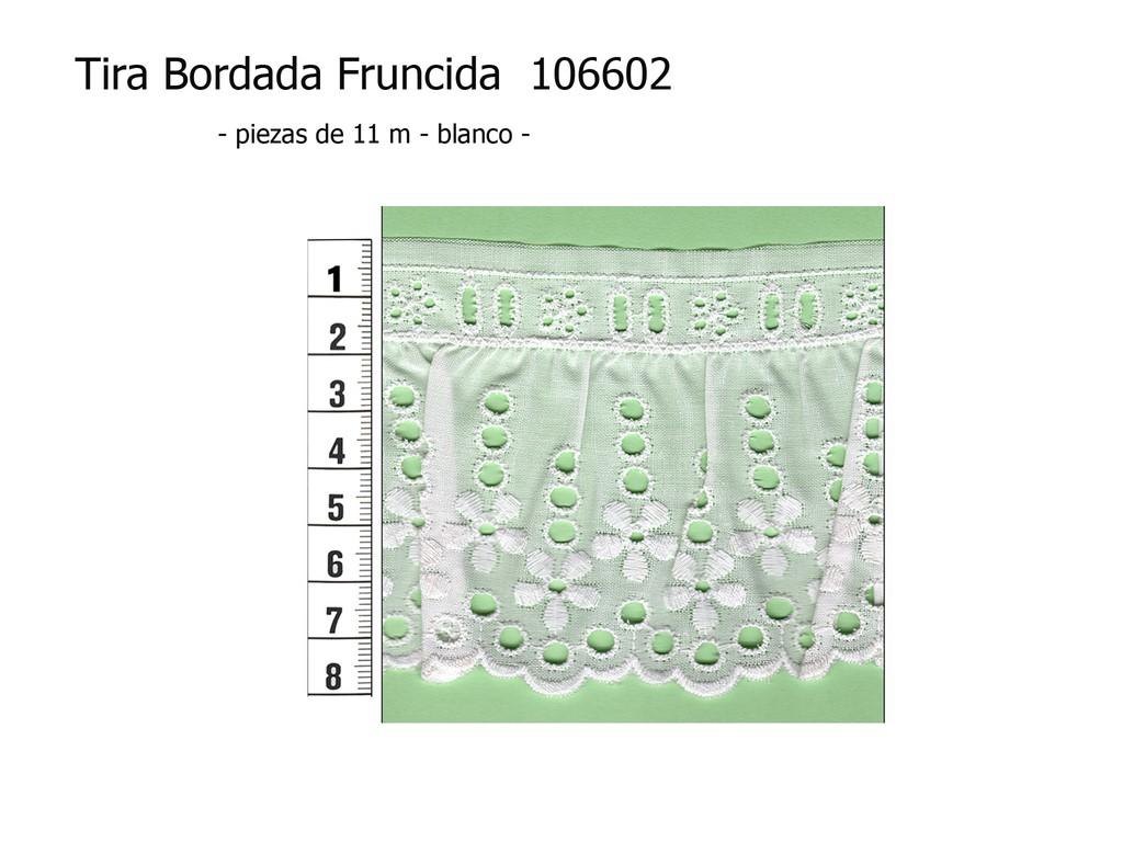 Tira bordada fruncida 106602