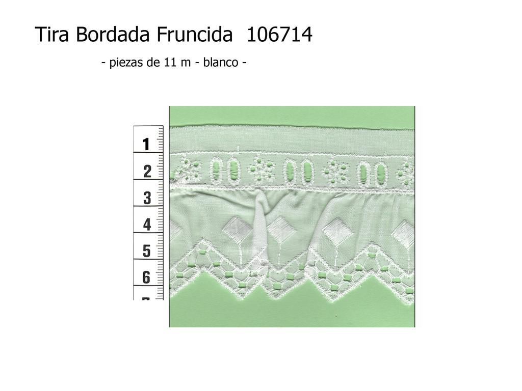 Tira bordada fruncida 106714
