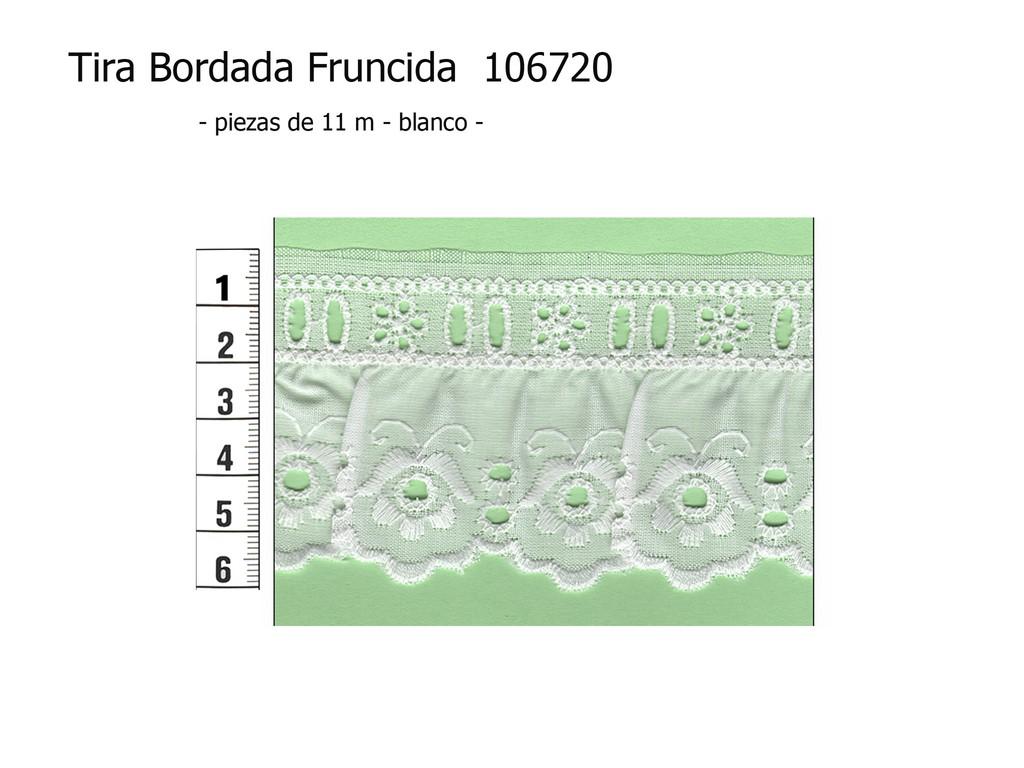 Tira bordada fruncida 106720