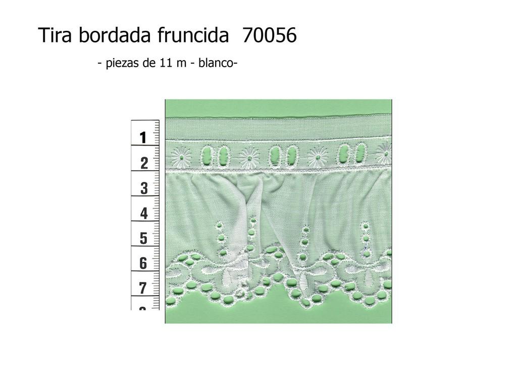 Tira bordada fruncida 70056