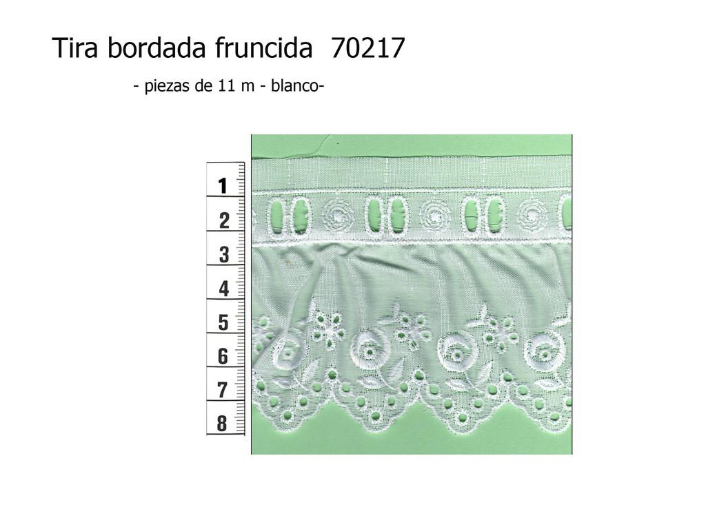 Tira bordada fruncida 70217