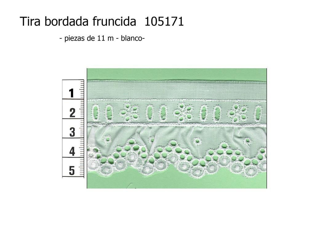 Tira bordada fruncida 105171