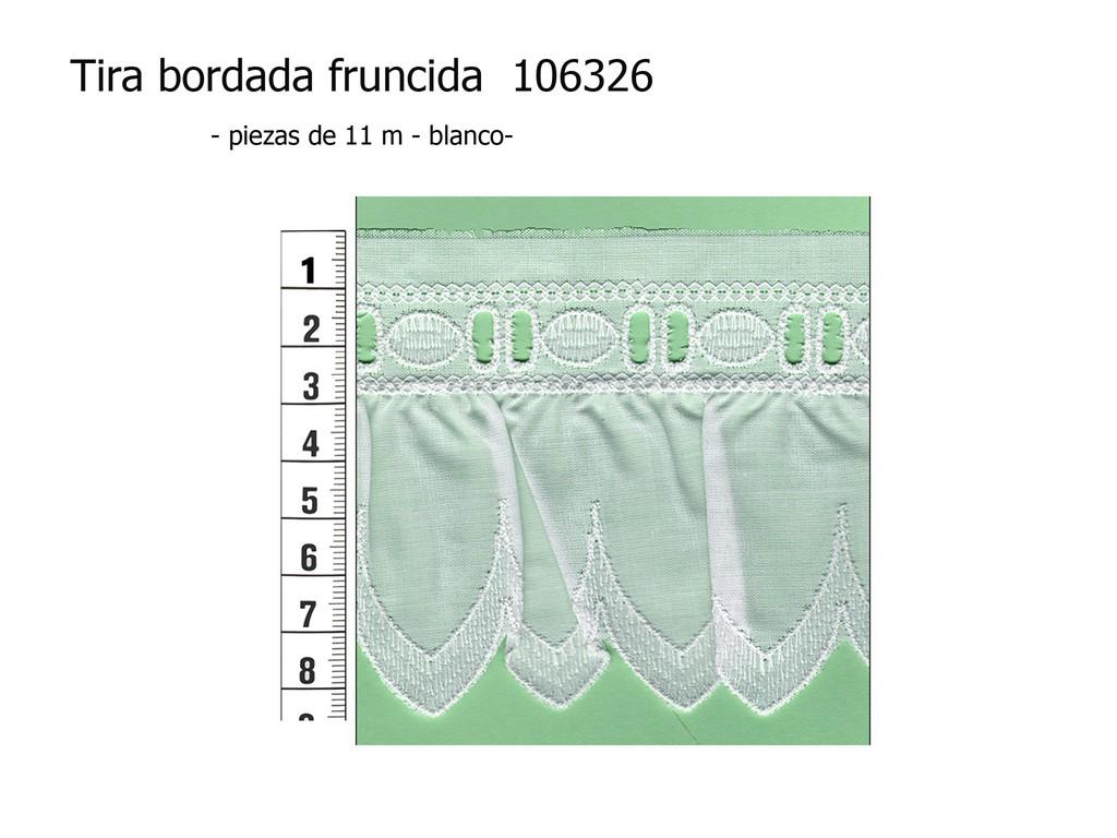 Tira bordada fruncida 106326