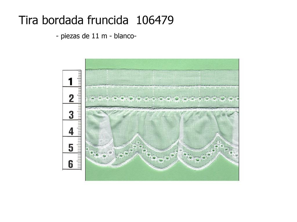 Tira bordada fruncida 106479