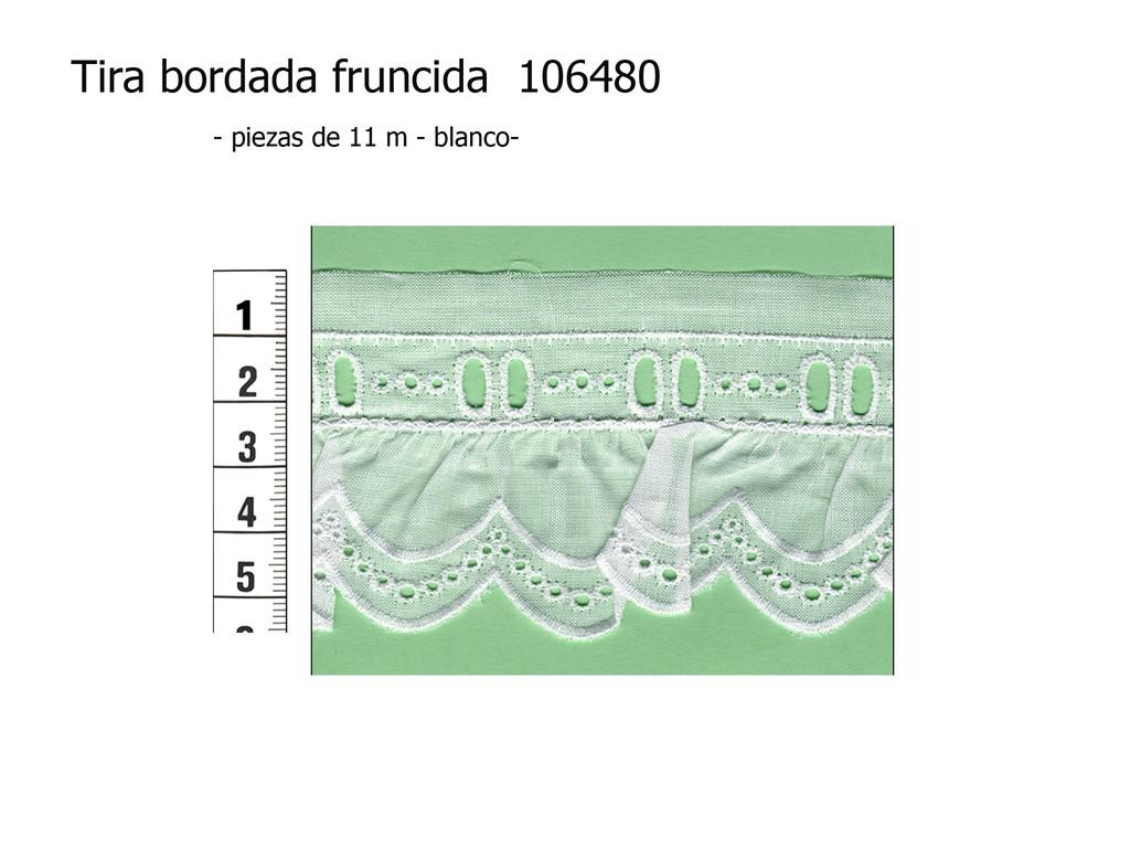 Tira bordada fruncida 106480