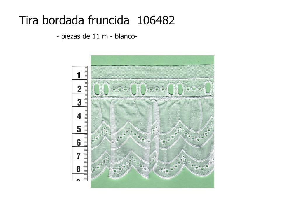 Tira bordada fruncida 106482