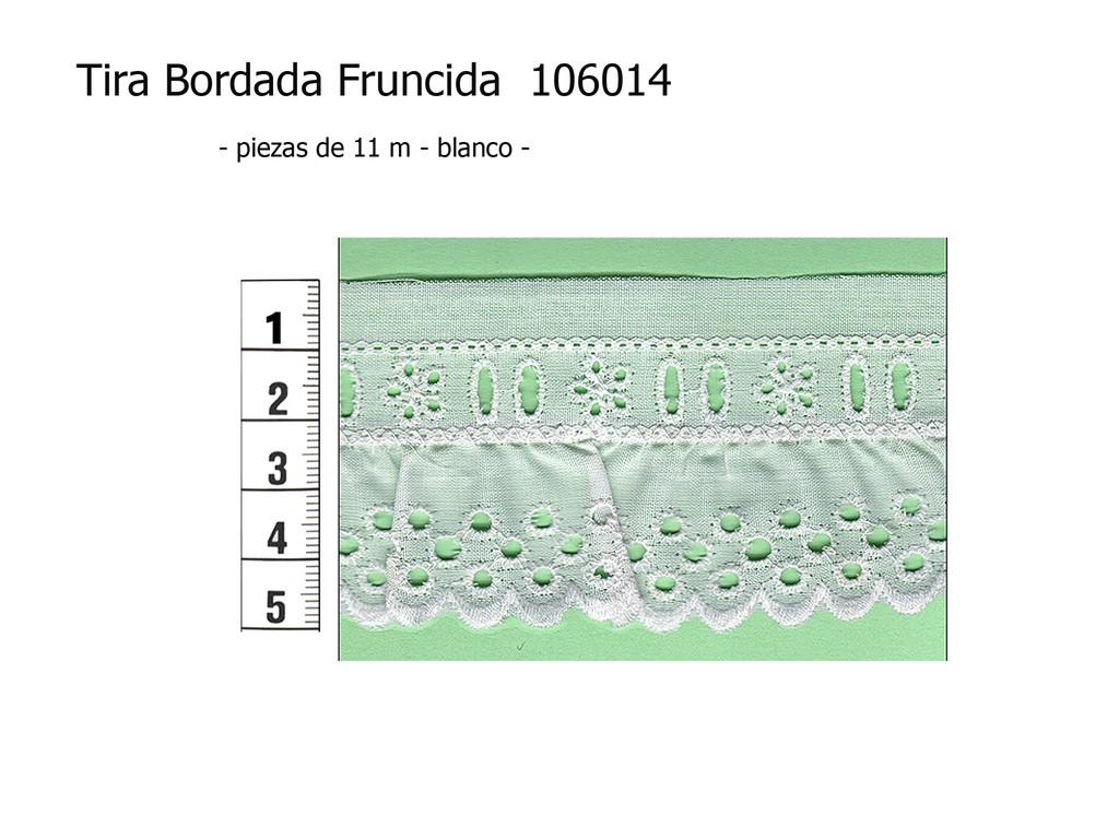 Tira bordada fruncida 106014