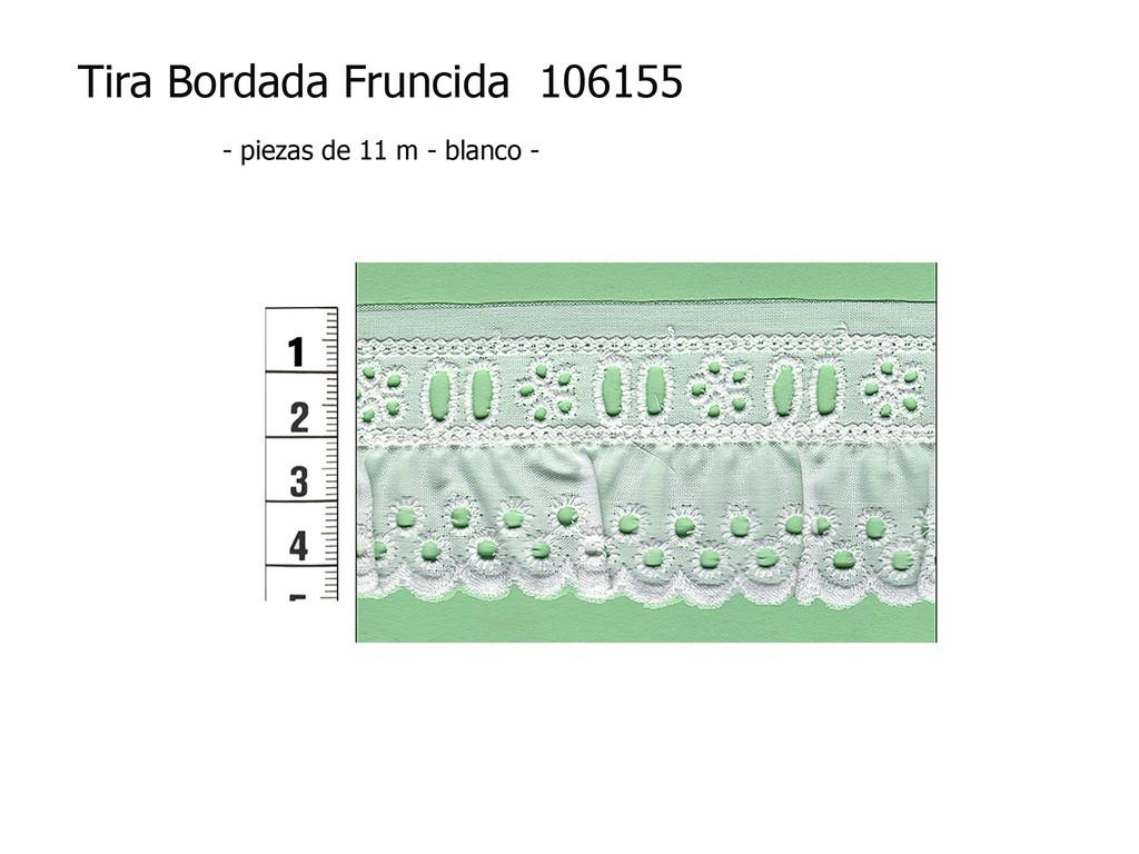 Tira bordada fruncida 106155