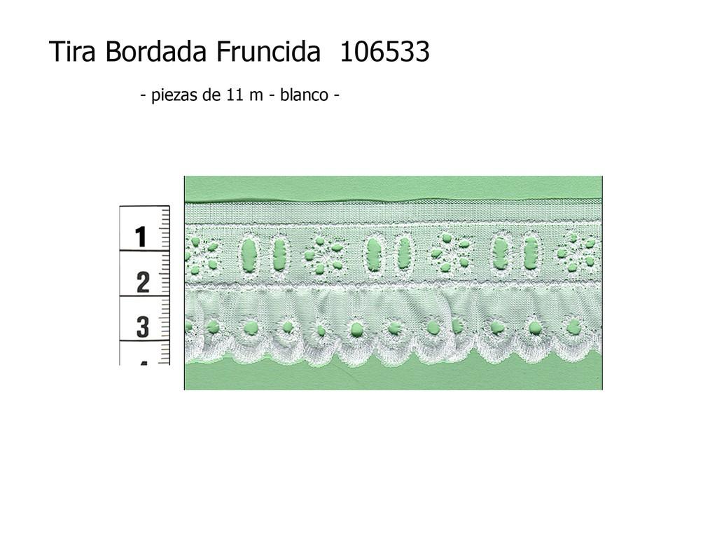 Tira bordada fruncida 106533