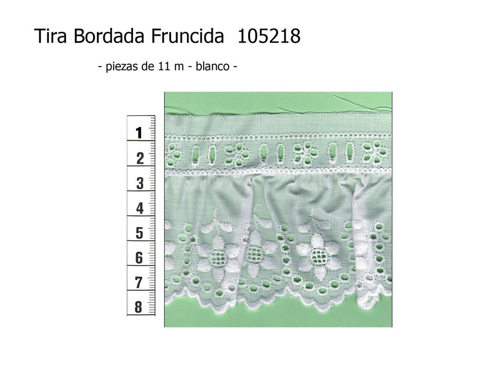 Tira bordada fruncida 105218