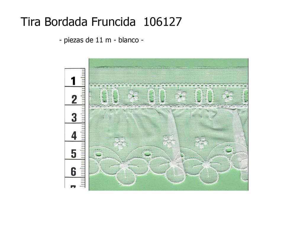 Tira bordada fruncida 106127