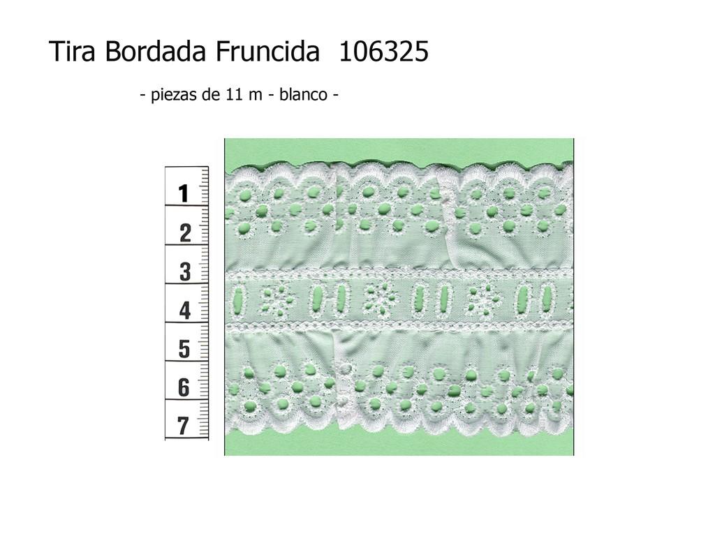 Tira bordada fruncida 106325