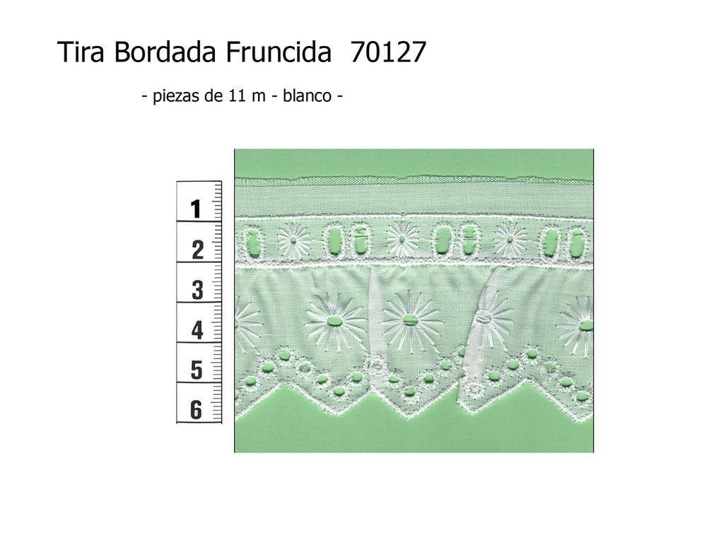 Tira bordada fruncida 70127